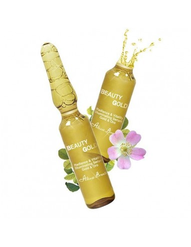 BEAUTY GOLD Serum Concentrado Tensor & Iluminador al Oro. 10 u x 2 ml